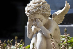 Sad angel. A photography of a beautiful sad angel Stock Photography