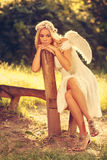 Sad angel Royalty Free Stock Photo