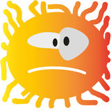 Sad, angry, smile, curly, color Royalty Free Stock Image