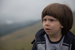 Sad Angry Toddler Boy Royalty Free Stock Photos