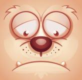 Sad Animal Face. Cartoon Illustration Royalty Free Stock Photos
