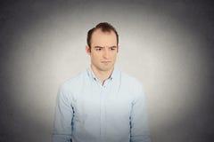 Sad annoyed, skeptical, grumpy business man Stock Images