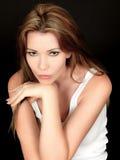 Sad Anxious Thoughtful Beautiful Young Woman Stock Photography