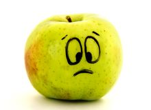 Sad apple Royalty Free Stock Photo