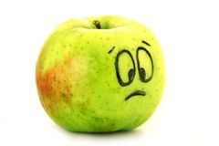 Sad apple Stock Photography