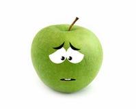 Sad apple Stock Image