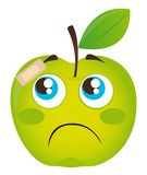 Sad apple Stock Image