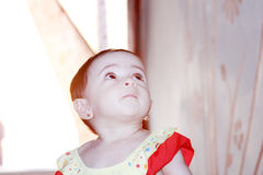 Sad arab baby girl Royalty Free Stock Image
