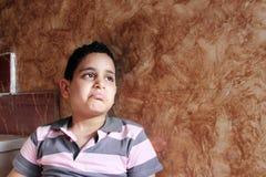 Sad arab egyptian child. Photo of sad arabian egyptian child searching hope stock photography