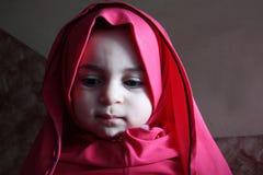 Sad arab egyptian muslim baby girl Stock Photography
