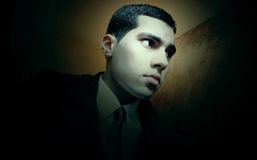 Sad arab egyptian young businessman Stock Photo
