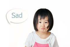 Sad asian little child Royalty Free Stock Images