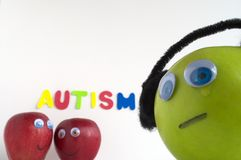 Sad Autism Apple Royalty Free Stock Photos