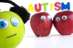 Sad Autism Apple Series Royalty Free Stock Image