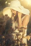 Sad autumn girl Stock Photo