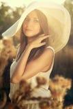 Sad autumn girl Stock Photography