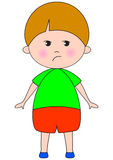 Sad baby. Cartoon character Stock Images