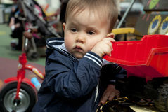 Sad baby boy Royalty Free Stock Image