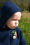 Sad baby boy Royalty Free Stock Images