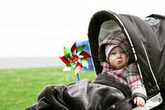 Sad baby girl Stock Images