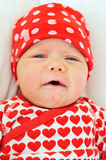 Sad baby girl Stock Photos