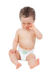Sad baby tired crying Royalty Free Stock Photography