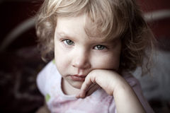 SAD barn Royaltyfri Foto