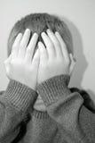 SAD barn Fotografering för Bildbyråer