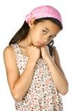 SAD barn för meningsflicka Royaltyfria Foton