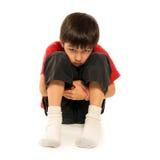 SAD barn för pojke Royaltyfri Bild