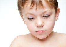 SAD barn för pojke Royaltyfria Foton