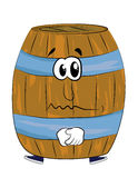 Sad barrel cartoon Stock Photography
