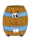 Sad barrel cartoon Stock Photography