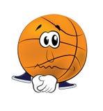 Sad Basketball ball cartoon Stock Photography