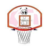 Sad basketball hoop cartoon Stock Images