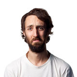 Sad bearded man Stock Images