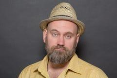 Sad bearded man Royalty Free Stock Images