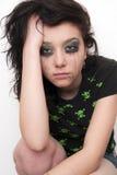 Sad Beautiful Brunette Stock Photo