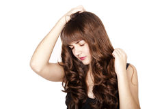 Sad beautiful brunette girl Stock Photo