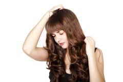 Free Sad Beautiful Brunette Girl Stock Photo - 22155700