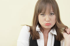 Sad beautiful woman Stock Photography
