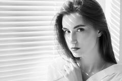 Sad beautiful woman Stock Photos