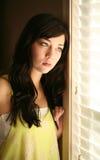 Sad beautiful young female model Stock Photo