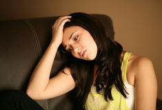 Sad beautiful young female model Royalty Free Stock Photo