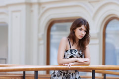 Sad beautiful young woman Stock Images