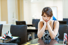 Sad beautiful young woman Royalty Free Stock Photo