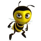 Sad bee. 3d cartoon sad honey bee royalty free illustration
