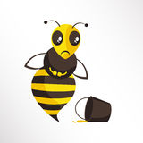 Sad Bee  Royalty Free Stock Images