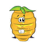 Sad beehive cartoon Stock Images