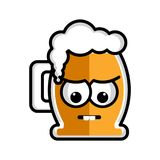 Sad beer cartoon character Stock Photo